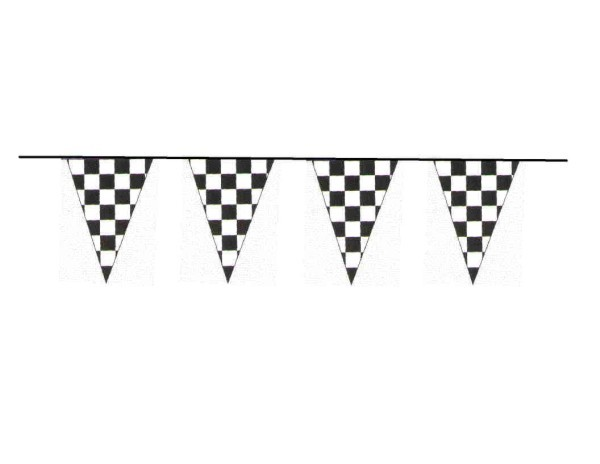 100ft Pennant String- B/W Checker