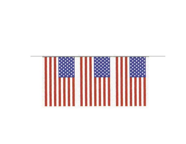100ft Pennant String - US Flags
