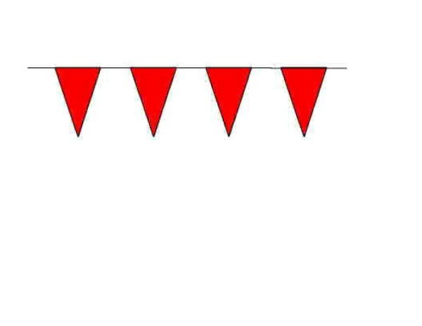 100ft Pennant String - Red