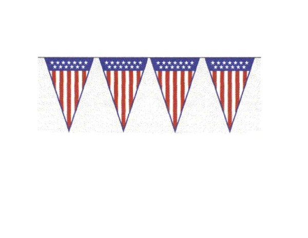 100ft Pennant String- Stars & Stripes