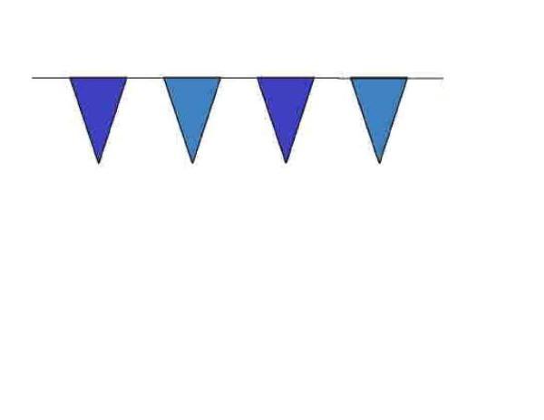 100ft Pennant String - Blue